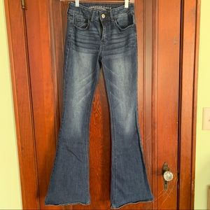 American Eagle flare jeans. Size 0